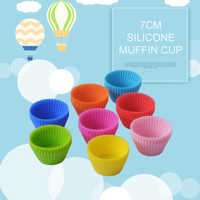 1 pcs Round Shaped Silicone Cake Baking Molds Cake Mold Silicone Cupcake Cup Muffin Tart Case Baking Mould DIY Cooking Tools