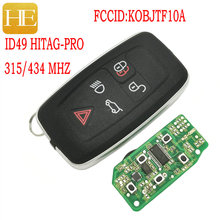 HE Xiang Car Remote Control Key For Land Rover Range Rover Sport  LR2 LR4 Discovery 315 434 Mhz ID49 Keyless Go Smart Card