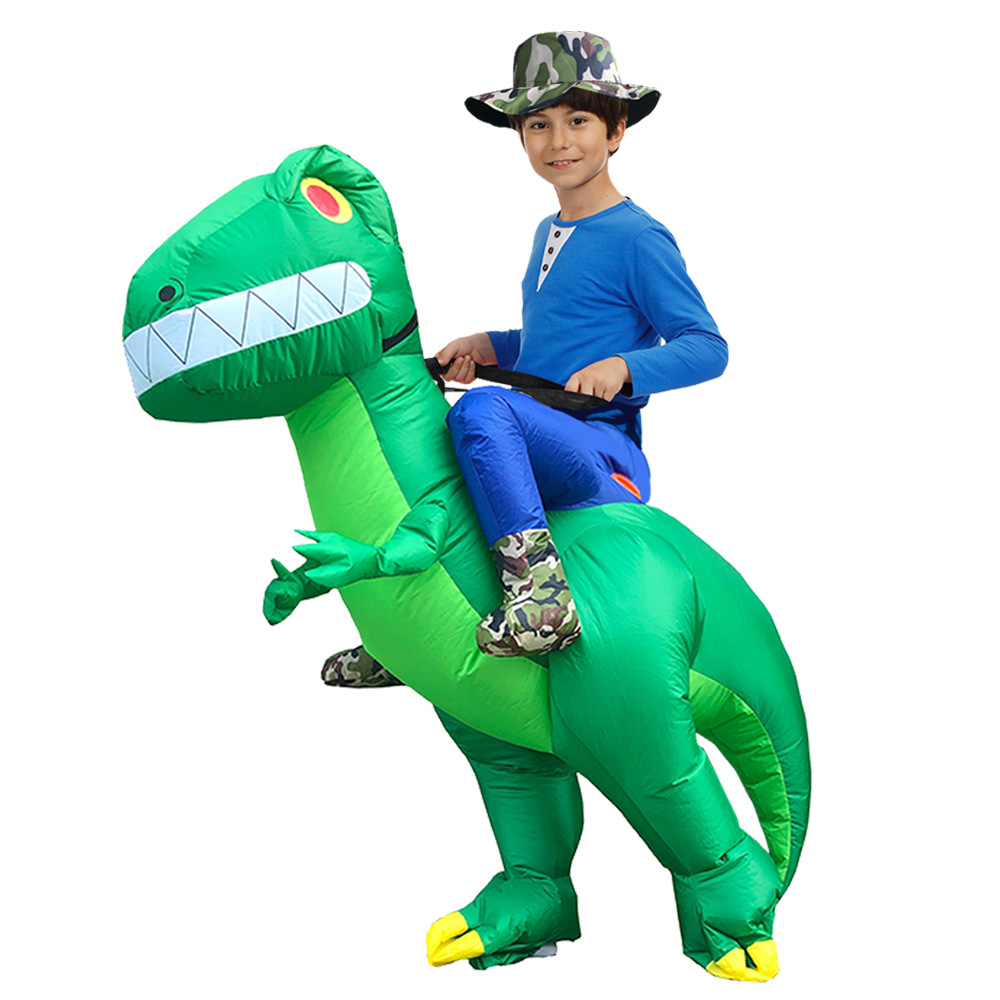 Image 3 - Adult Inflatable Costume Dinosaur Costumes T REX Blow Up Fancy Dress Mascot Cosplay Costume For Men Women Kids Dino CartoonParty DIY Decorations   -
