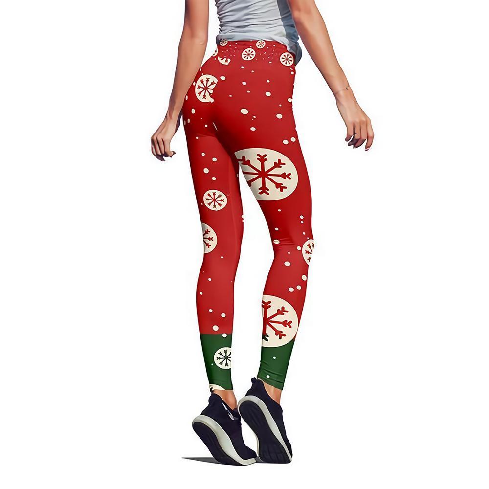 New Style Christmas Printing LeggingsElastic High Waist Legging Breathable Merry Christmas Pants
