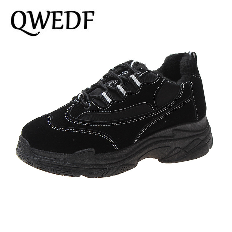 2019 Warm Women Shoes New Chunky Sneakers For Women White Vulcanize Shoes Casual Fashion Shoes Platform Sneakers X14-45
