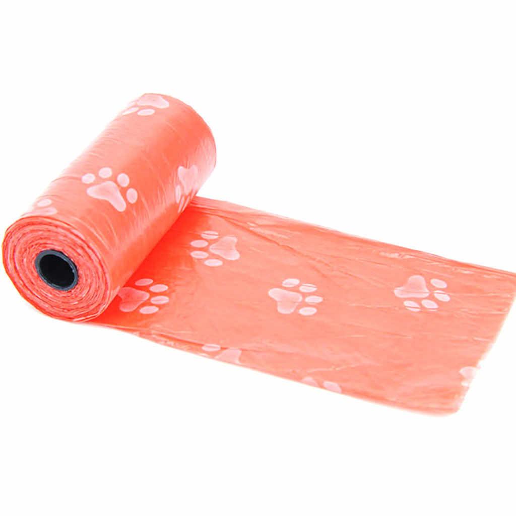 10 rolo 150 pces degradáveis pet resíduos sacos de cocô gato do cão limpar recarga sacos de saco de lixo ao ar livre casa limpa recarga saco de lixo * 5