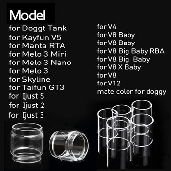 Glass Tube Replacement For V12 Eleaf Ijust S/ijust 2/ijust 3/ELLO DURO/PICO 25/MELO RT 22/25/MELO 300/Melo 3 Mini/Melo 4 D22/25 атомайзер eleaf melo 300 clearomizer page 2