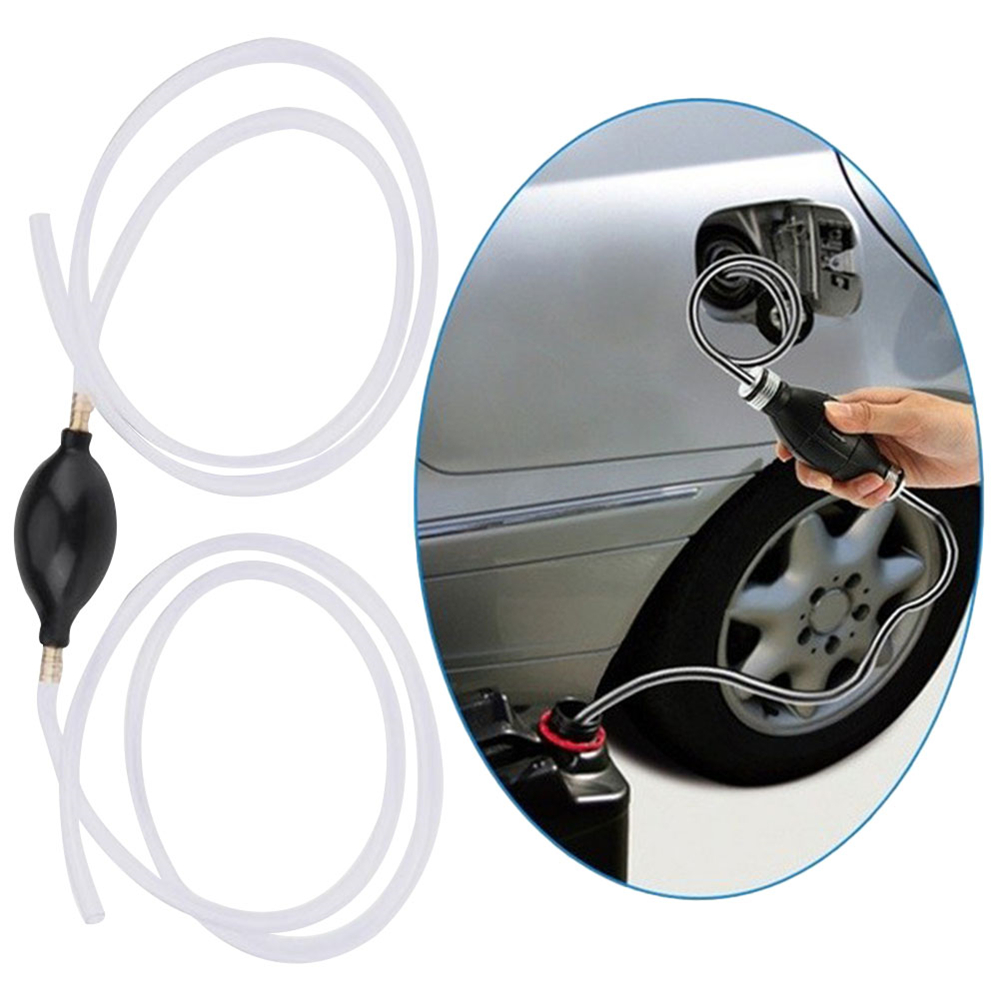 Auto Motorcycle Fuel Liquid Transfer Pump Home Use Hand Siphon Syphon Hose Tube Liquid Transfer Manual Gas Oil Water Pump
