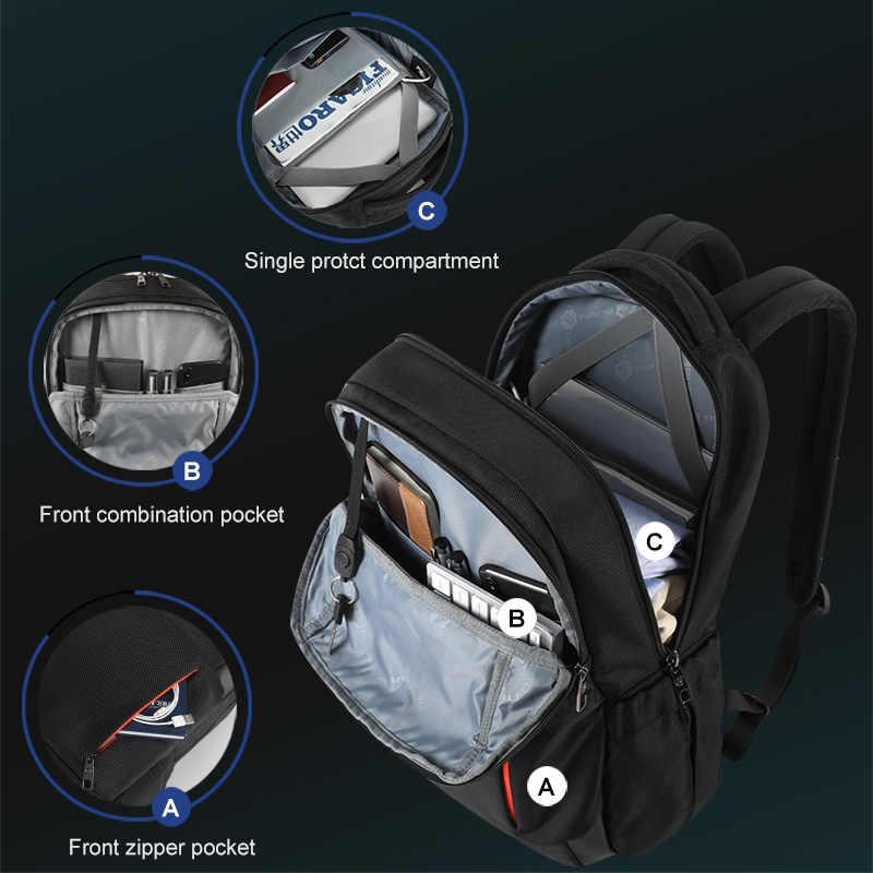 Tigernu חדש משולב גברים תיק USB טעינת נסיעות תרמיל זכר תרמיל מחשב נייד תיק עבור נער תרמיל