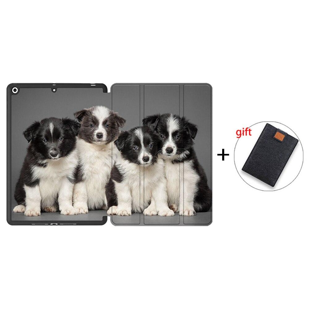 IPBC05 Black MTT Tablet Case For iPad 10 2 7th 8th Generation 2020 TPU Back PU Leather Flip