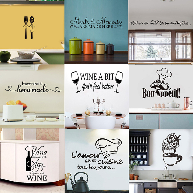 28 styles Coffee Wall Stickers Vinyl Wall Decals Kitchen Stickers English Quote Home Decorative Stickers PVC Dining Room Shop 3