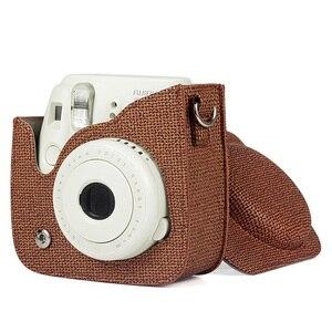 Image 3 - 新しい富士フイルムインスタックスミニカメラケースバッグ Pu レザーカバーとショルダーストラップインスタックスミニ 9 8 8 + インスタントフィルムカメラケース