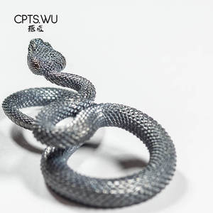 Image 3 - CPTS.WU S925 Snake Keychains Original Design Handmade Key Chain Fashion Animal Key Ring Handbag Pendant Punk Rock