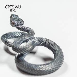 Image 3 - CPTS.WU S925 ثعبان سلاسل المفاتيح التصميم الأصلي اليدوية مفتاح سلسلة موضة الحيوان حلقة رئيسية حقيبة يد قلادة الشرير الصخرة