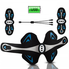Abdominal Muscle Stimulator Trainer Body Slimming Training Machine Waist Belly Arm Leg Fat Burning Fitness Massager USB Charged the new wooden ten six wheel lunar rover multi function body massager to belly leg thin abdominal fat reduction
