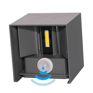 Image 4 - Outdoor Wall Lamp Motion Sensor Aluminum COB IP65 Waterproof Modern Wall Light Living Room Porch Led Floodlight Surface Mounted