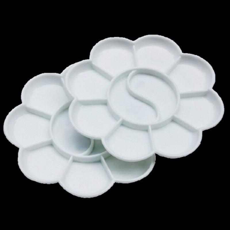 Art Alternative Vassoio di Vernice Artista Acquerello di Plastica Tavolozze Fornitura Bianco per Penna Della Spazzola