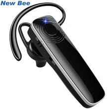 New Bee Bluetooth Earpiece Wireless Headset Mini hands-free Earphone Headset Stereo Headphone With CVC6.0 Mic For iPhone xiaomi(China)