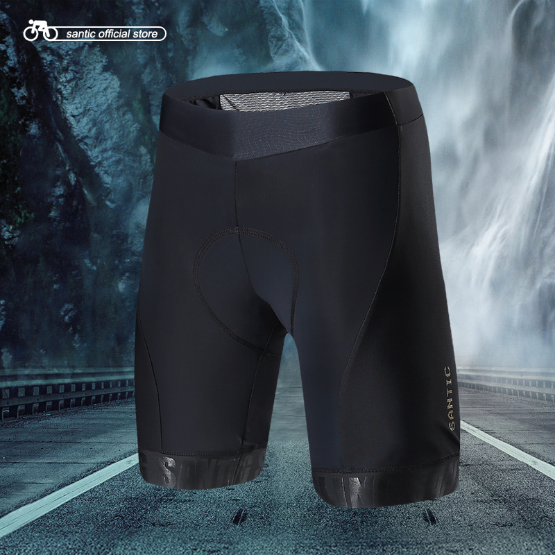 Santic Men Cycling Padded Shorts Pro Fit Italian Imported Riding Pad MTB Road Bike Short Pants Cycling Clothing M7C05084ER
