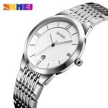Fashion Couple Watch Brand SKMEI Wristwatch Waterproof Stainless Steel Women's