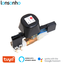 Lonsonho controlador inteligente de válvula de agua y Gas, Control remoto inalámbrico por aplicación Smart Life, Tuya, Alexa y Google Home