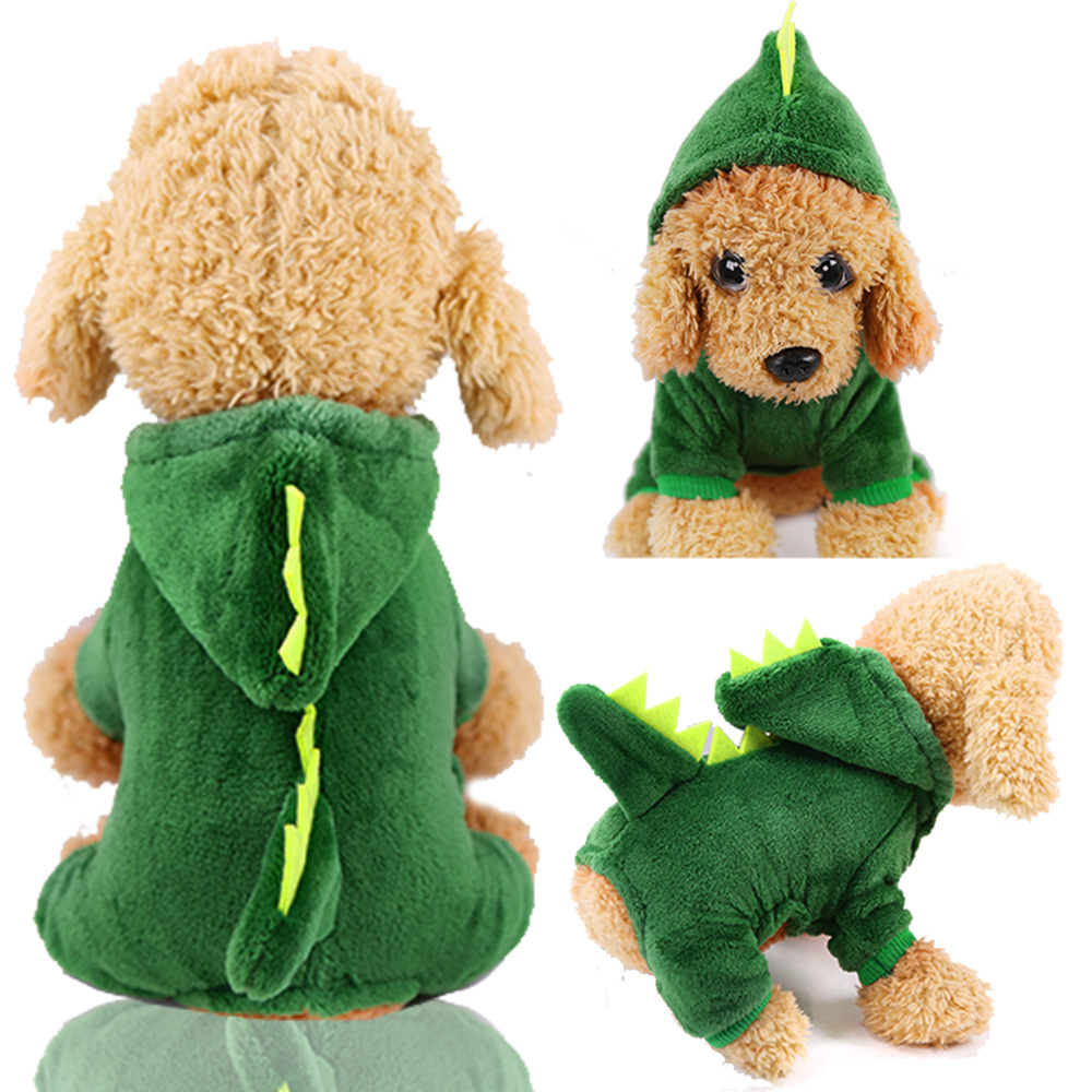 Dog Clothes Pajamas Jumpsuit Winter Pet Clothes Puppy Hoodies Fleece legs Warm Dog Clothing Outfit Small Dog Costume Apparel 12