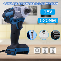 18V Brushless Electric Wrench Impact Socket Wrench 520Nm For Makita Battery Hand Drill Installation 1/2 Socket Wrench Power Tool