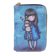 Portefeuille à motif de dessin animé pour enfants, porte-cartes, porte-monnaie, couverture de passeport, porte-cartes de crédit, carte Tarjetero Rfid