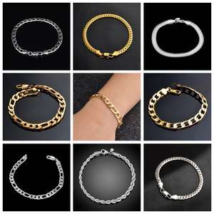 Fashion Bracelet Bangle Armband Jewelry Link-Chain Cuban Stainless-Steel Women High-Quality