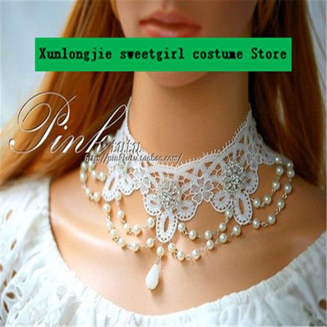 Фото diy оригинальное женское кружевное ожерелье изысканное свадебные
