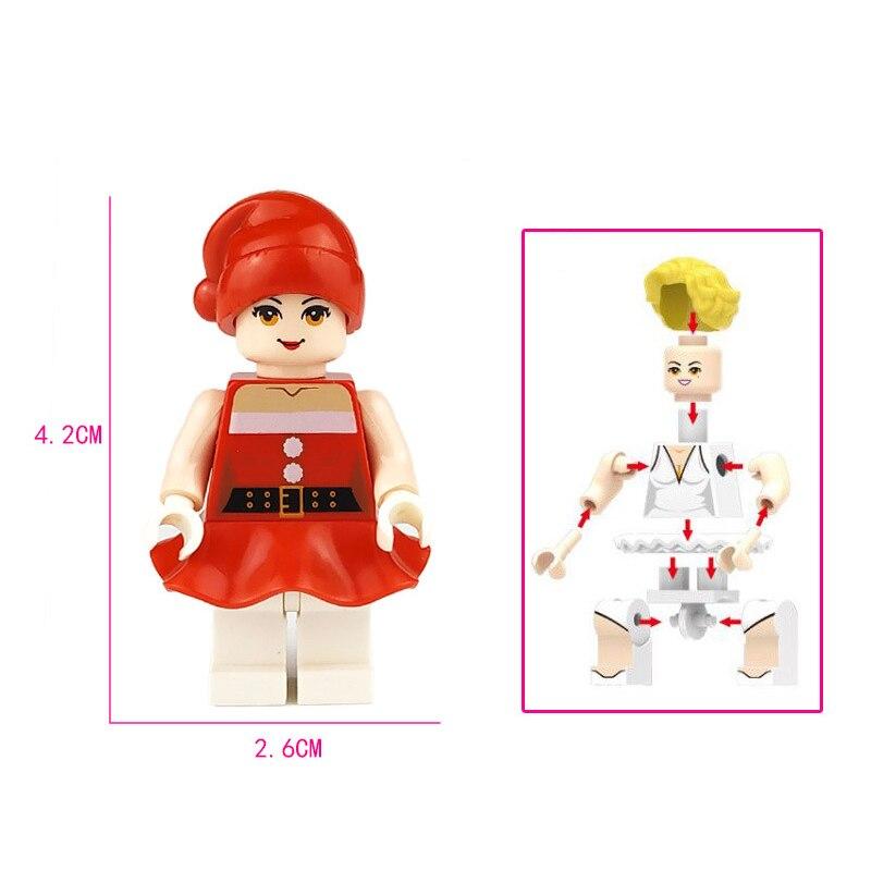 Image 3 - 36 sztuk/partia dziewczyna przyjaciel Mini Doll rysunek bloki zabawki dla dziewczynek modelu budynku zestaw cegieł zabawki dla dzieci Christmas Gift playmobilKlocki do układania   -