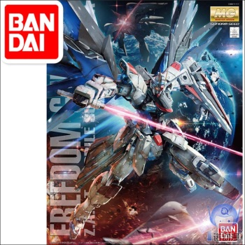 цена на Japaness Bandai Original MG 1/100 Gundam Model ZGMF-X10A Freedom 2.0 Destroy Armor Unchained Mobile Suit Kids Toys BANDAI