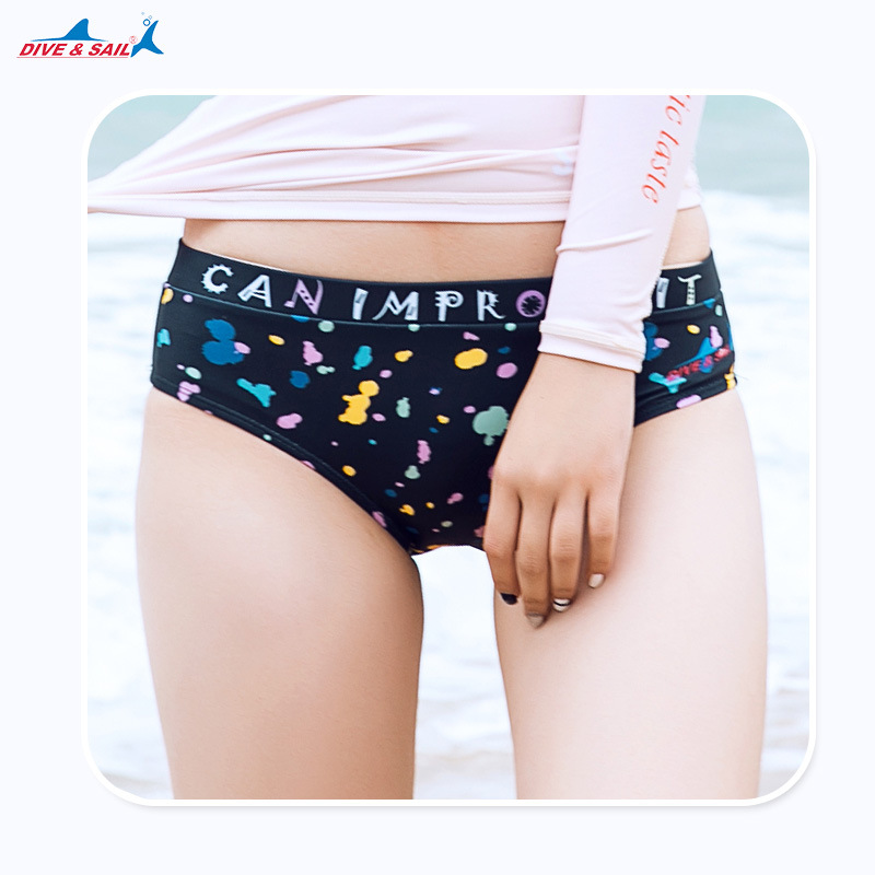 Summer New Style Bikini Triangular Swimming Trunks Bathing Suit Women's Sun-resistant Beach Shorts Surfing Snorkeling Waterproof