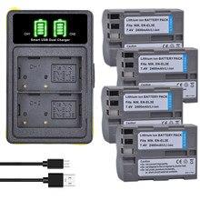 Batteries et chargeur pour Nikon, 2x2400mAh, pour modèles EL3e, EL3E, D30, D50, D70, D70S, D90, D80, D100, D200, D300, D300S