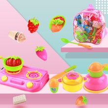 Kitchenware Set Play House Kitchen Toys Children Retend Plastic Food Toy Cutting Fruit Vegetable