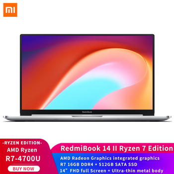 Xiaomi RedmiBook 14 II Laptop AMD Ryzen Edition 7- 4700U 16GB DDR4 512GB SSD 14″ FHD full Screen Win10 Ultra-thin metal body Electronics Laptops