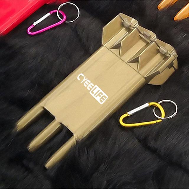Carry Dart case 12Colors-Transparent wallet holder-Plastic dart box-CyeeLife