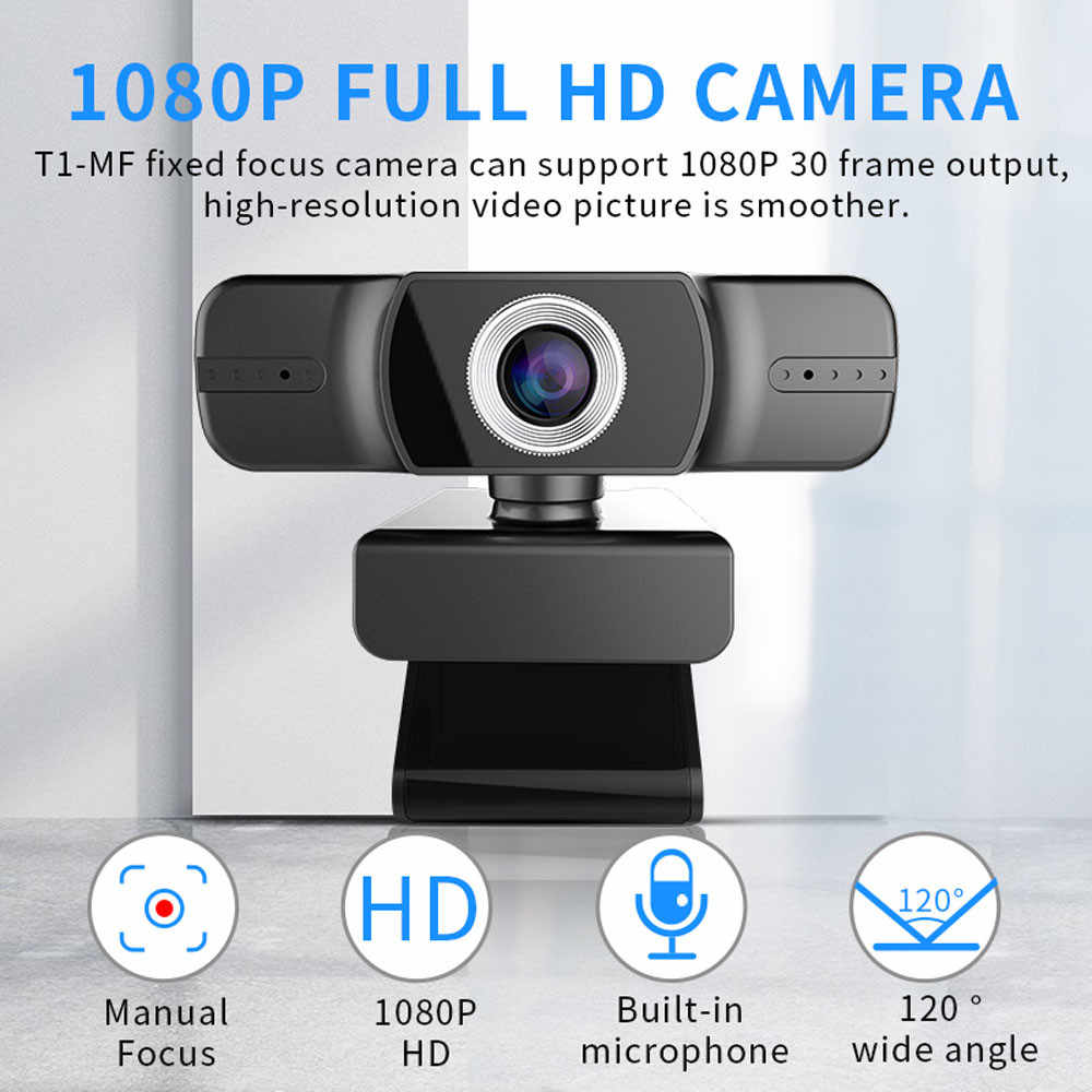 HD веб-камера 1080P веб-камера Настольный ПК видео вызов веб-камера с микрофоном Микрофон USB 2,0 потоковая камера для рабочего стола J80
