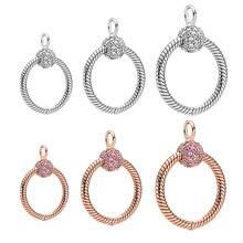 Ожерелье CodeDog из серебра 925 пробы, розовое, розовое, золотое, маленькое серебряное ожерелье с подвеской-палочкой, очаровательное оригинально...