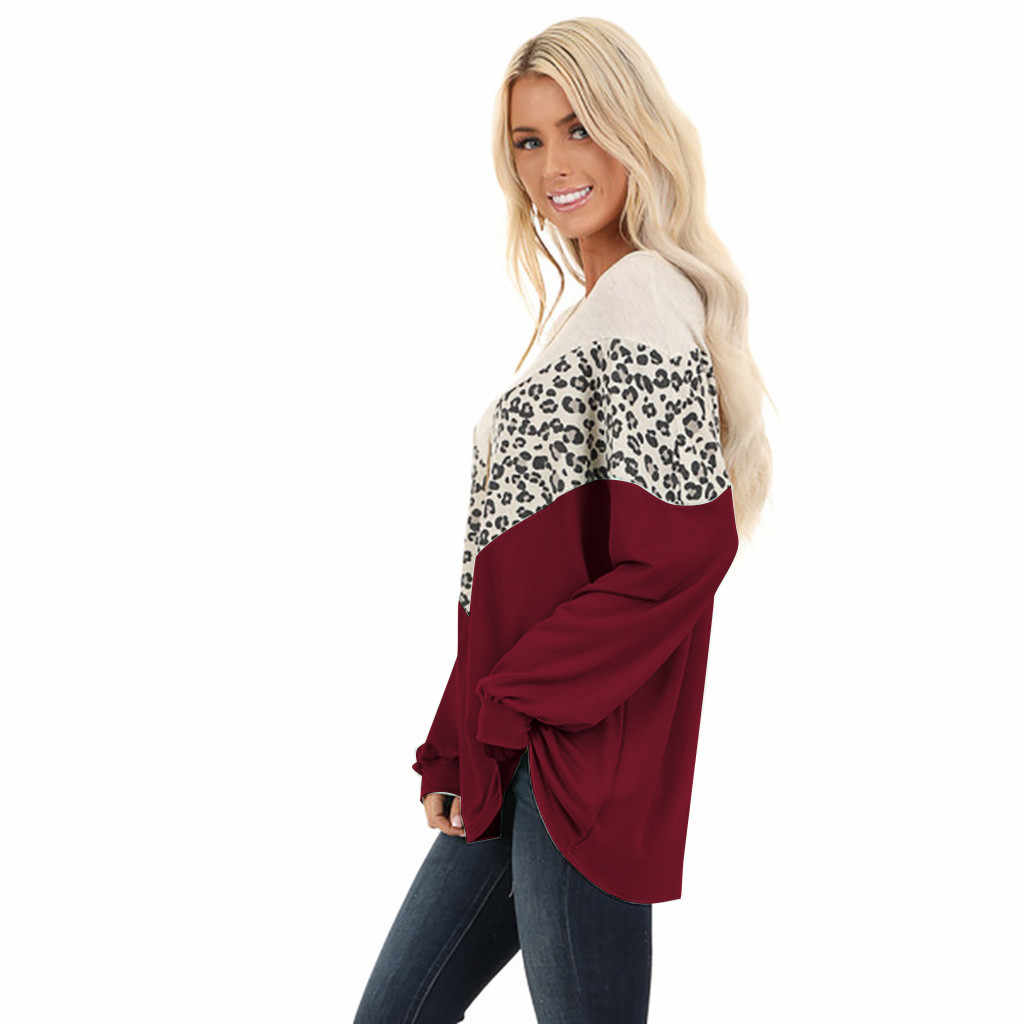 بلوز للنساء ، بلوز رومانديل ، ملابس موليتون للسيدات ، بلوزة مطبوعة بأشكال الفهد ، بلوزات طويلة الاكمام ، قمصان وبلوزات