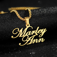 Classic Multi Names Custom Necklace Stainless Steel Choker Personalized Jewelry Handmade Nameplate Pendant Necklaces for Women