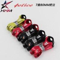 Ultraleicht AL7075 fahrrad vorbau rennrad mountainbike stem 7 grad 31 8mm * 80mm XC radfahren fahrrad teile schwarz rot  grün