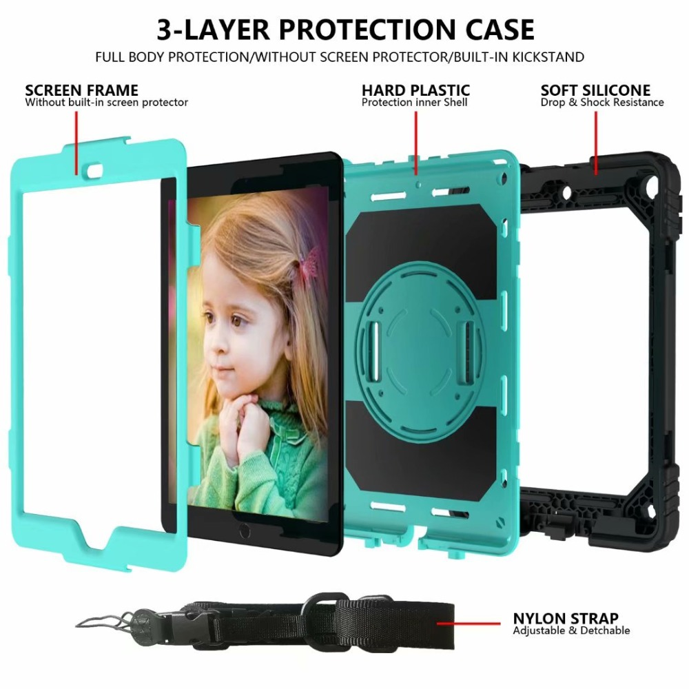 For Holder iPad 360 Case iPad Strap Stand Rotating 7th Cover Pencil Hand For Generation