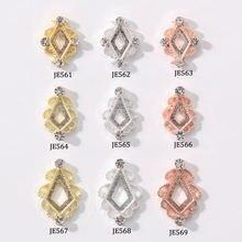 10 шт сплав для ногтей полые алмазные 3d украшения Блестящие