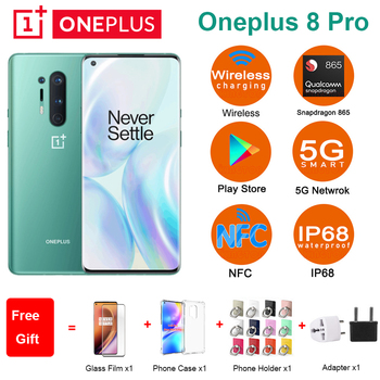 "Global ROM Oneplus 8 pro 5G Mobile Phone 6.78"" 8/12GB 128/256GB Snapdragon 865 Four Rear Camera 48MP 8MP 48MP 5MP Dual SIM Phone"