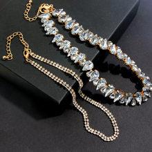 Flatfoosie Fashion Jewelry Accessories Luxury Rhinestone Cho