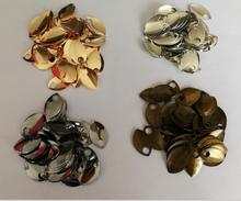 Nuevos estilos, WRB1014 escamas de pescado, piezas, accesorios y componentes de joyería, 100 uds, escamas, colores plateados o dorados