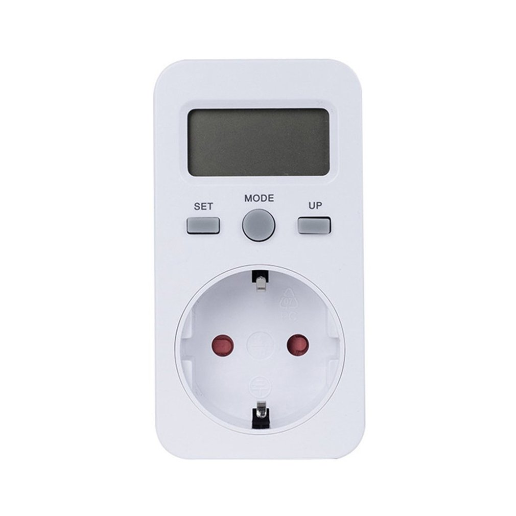 New KWE-PMB03 Plug Socket Digital Voltage Wattmeter Power Consumption Watt Energy <font><b>Meter</b></font> AC <font><b>Electricity</b></font> Analyzer Monitor image