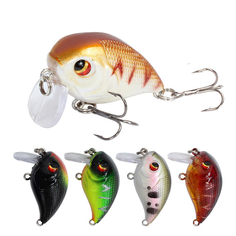 Crank Fishing Lure 4.5cm 7.4g Isca Artificial Hard Bait Bass Crankbait Lures Topwater Crazy Wobblers Pesca Fishing Tackle 3D Eye
