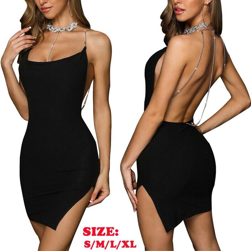 USA Women Sleeveless Casual Cocktail Summer Short Mini Dress S M L XL Black NEW