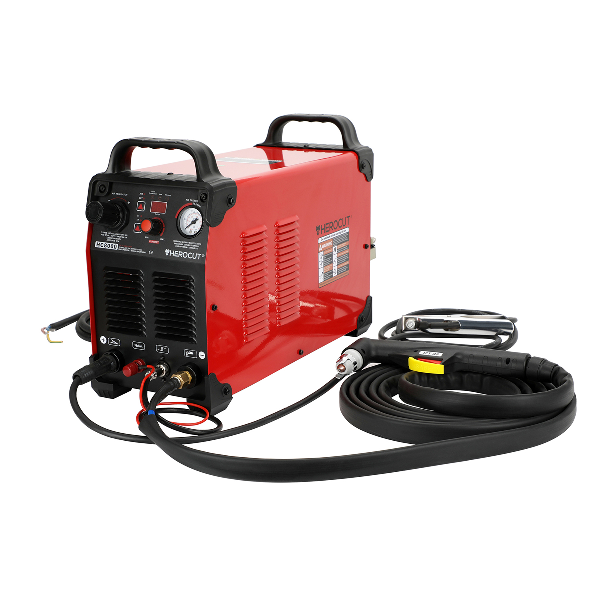 Herocut HC8000 220V CNC Plasma Cutter Non-HF Pilot Arc Plasma Cutting Machine, Cutting 25mm Clean Cut