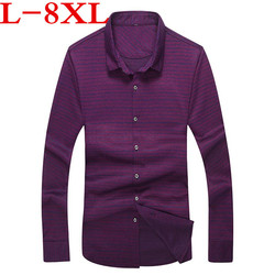 big plus size 8XL 7XL 6XL 5XL Brand  New Striped Shirt Men Causal Shirts High quality Clothing Men Business Dress Shirt