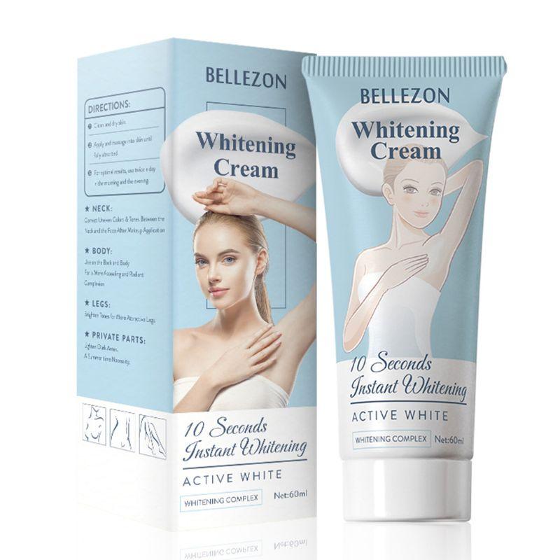 60ml Women Underarm Instant Whitening Cream Armpit Leg Knee Vaginal Lips Private Part Body Bleach Brighten Lotion