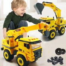 Toy Screw Car-Model Bulldozer Creative-Tool Disassembly Excavator Unloading-Engineering